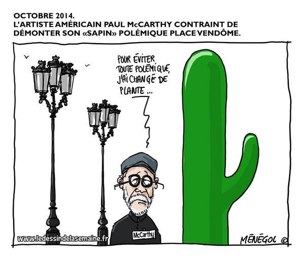 cactus-mccarthy Sculpture ou sextoy Place Vendôme ? Les réactions du web !