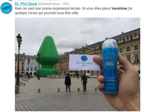 durex-mccarthy Sculpture ou sextoy Place Vendôme ? Les réactions du web !
