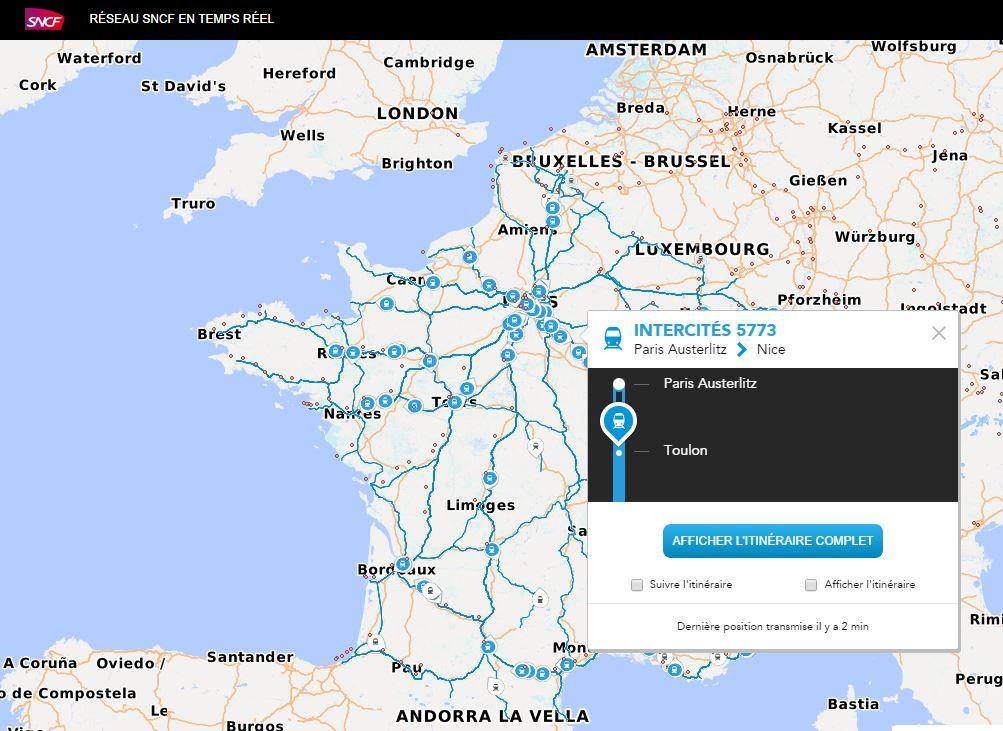 sncf-maps-capture SNCF Maps : localisez les train en temps réél