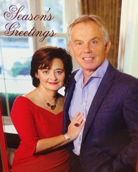 carte-voeux-tony-blair L'image du jour : la carte de vœux de Tony Blair