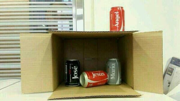creche-coca L'image du jour : la crèche vue par un fan de Coca