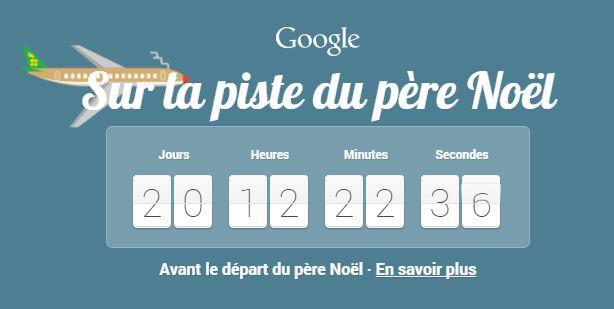 google-compte-rebours Sur la piste du Père Noël avec Google