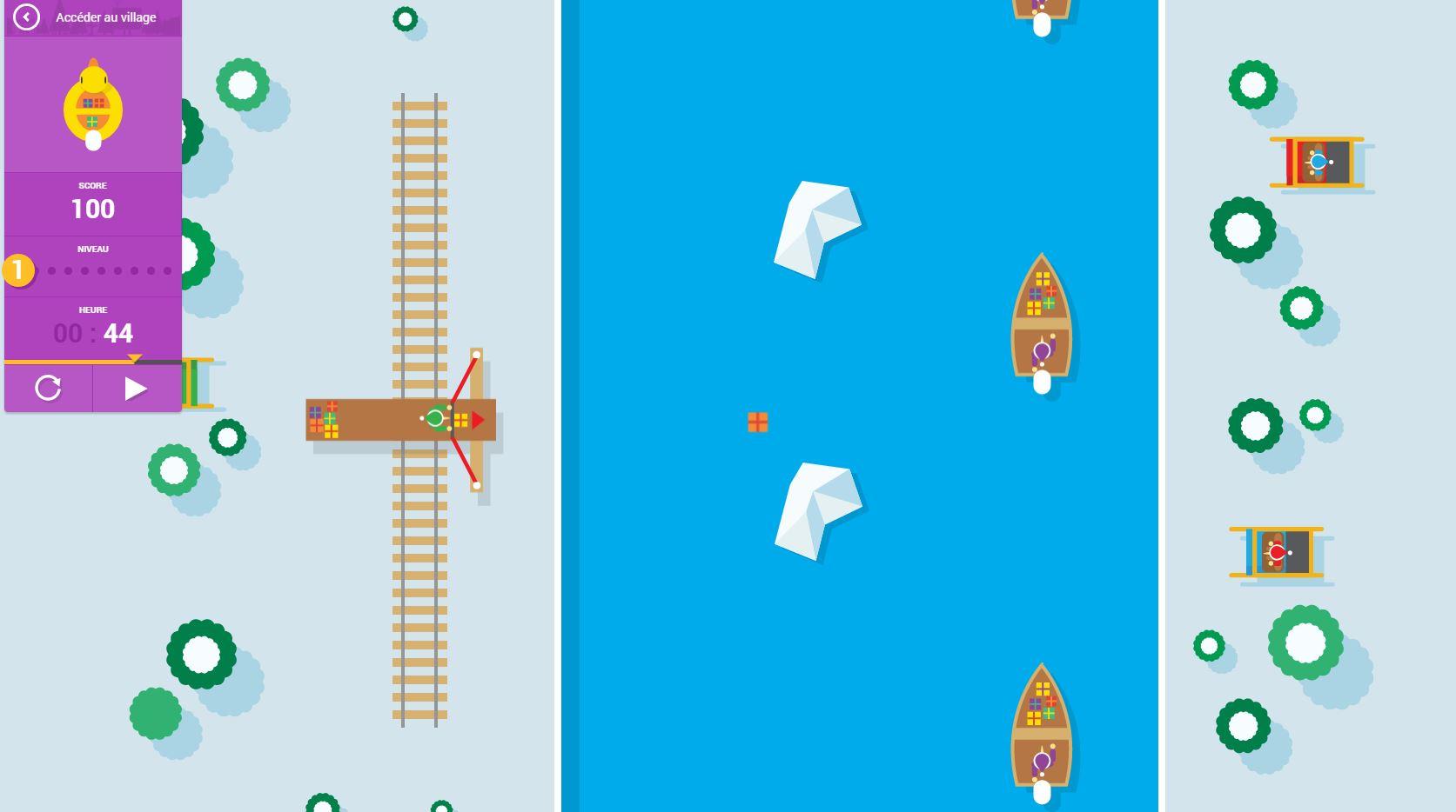 google-noel-jeux Sur la piste du Père Noël avec Google