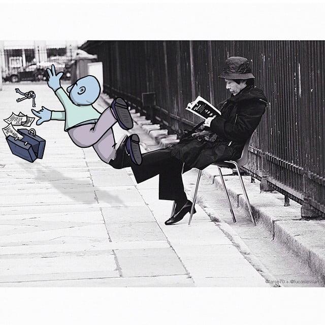 photo-invasion-4 Un dessinateur détourne les photos Instagram d'inconnus