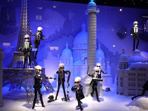 printemps-noel2011-lagerfeld Contrôlez les vitrines de Noël du Printemps avec votre Smartphone !