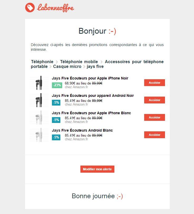 labonneoffre-creation-alerte-email Avec LaBonneOffre.fr ne manquez plus les promos sur les produits que vous suivez !