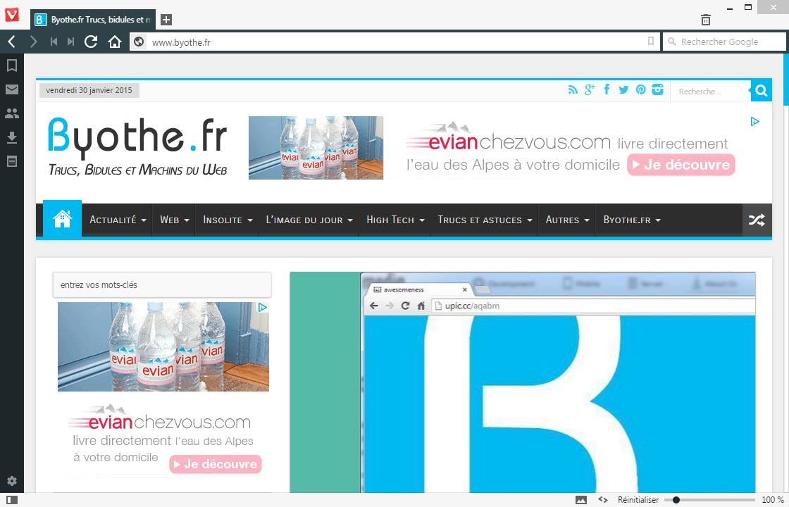 vivaldi-apercu Vivaldi, un nouveau navigateur web très prometteur !