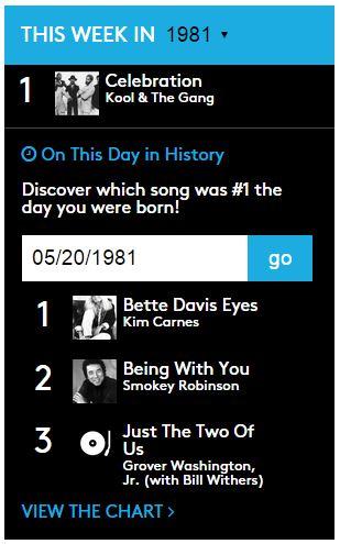billboard-100-1981 Quelle était la chanson la plus populaire aux USA le jour de votre naissance ?