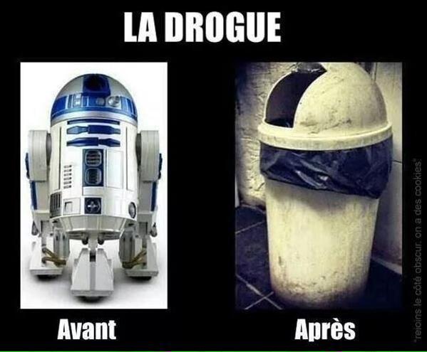 drogue-ravage-r2d2 L'image du jour : R2-D2 et les ravages de la drogue !