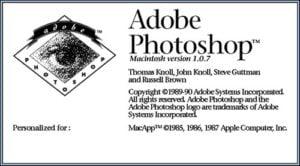 ecran-accueil-photoshop1-300x166 Photoshop a 25 ans, retour en images sur ce logiciel de référence !