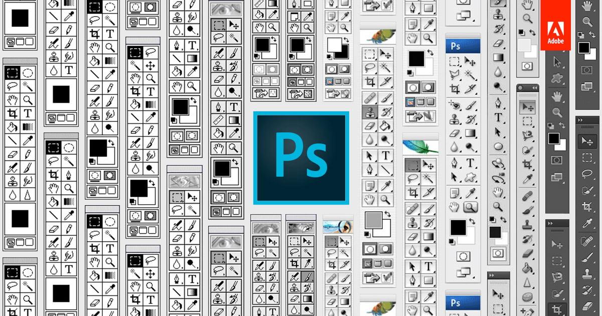 photoshop-25ans-barre-outil Photoshop a 25 ans, retour en images sur ce logiciel de référence !
