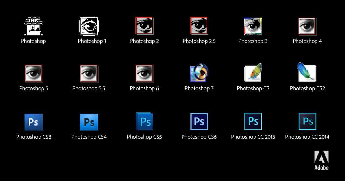 photoshop-25ans-logos Photoshop a 25 ans, retour en images sur ce logiciel de référence !