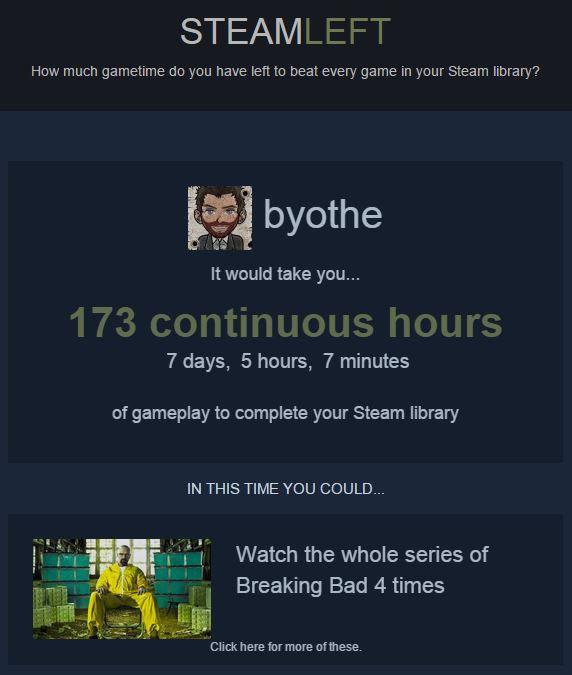 steamleft-byothe SteamLeft, combien de temps allez vous prendre pour finir tous vos jeux