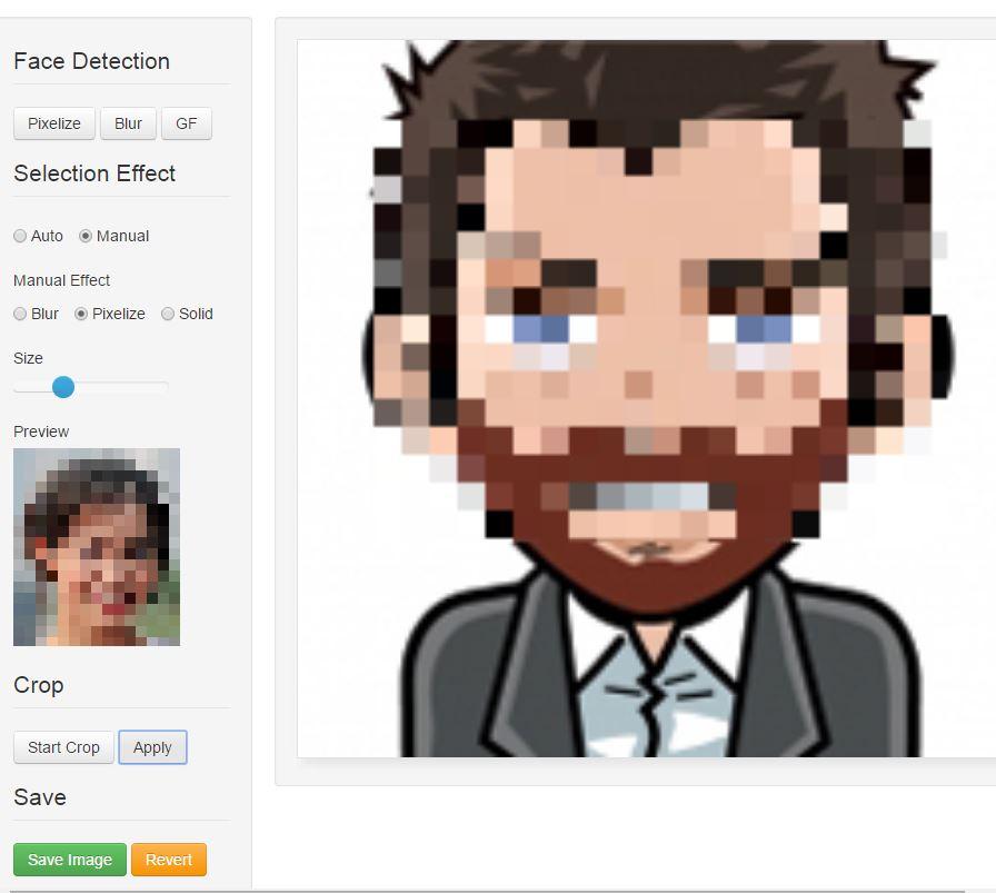 facepixelizer-interface Flouter ou anonymiser des photos et des images en ligne
