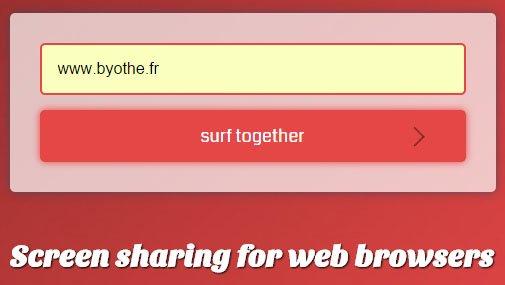 surfly-exemple-byothe Avec Surfly vous allez pouvoir partager la vue de votre navigateur web