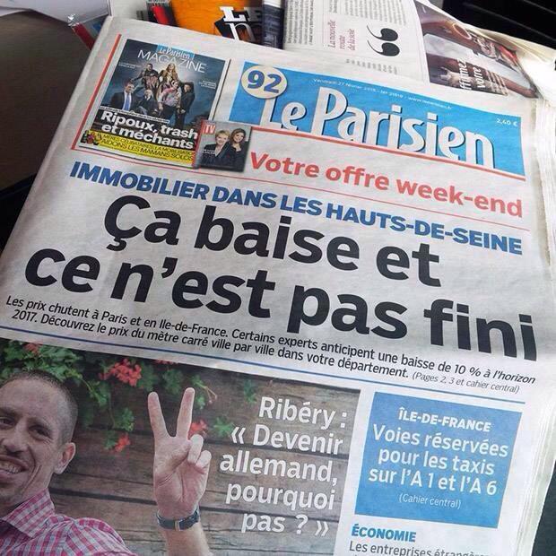 une-parisien-27-fevrier-baise L'image du jour : un loupé sur la Une du Parisien ? [EDIT]