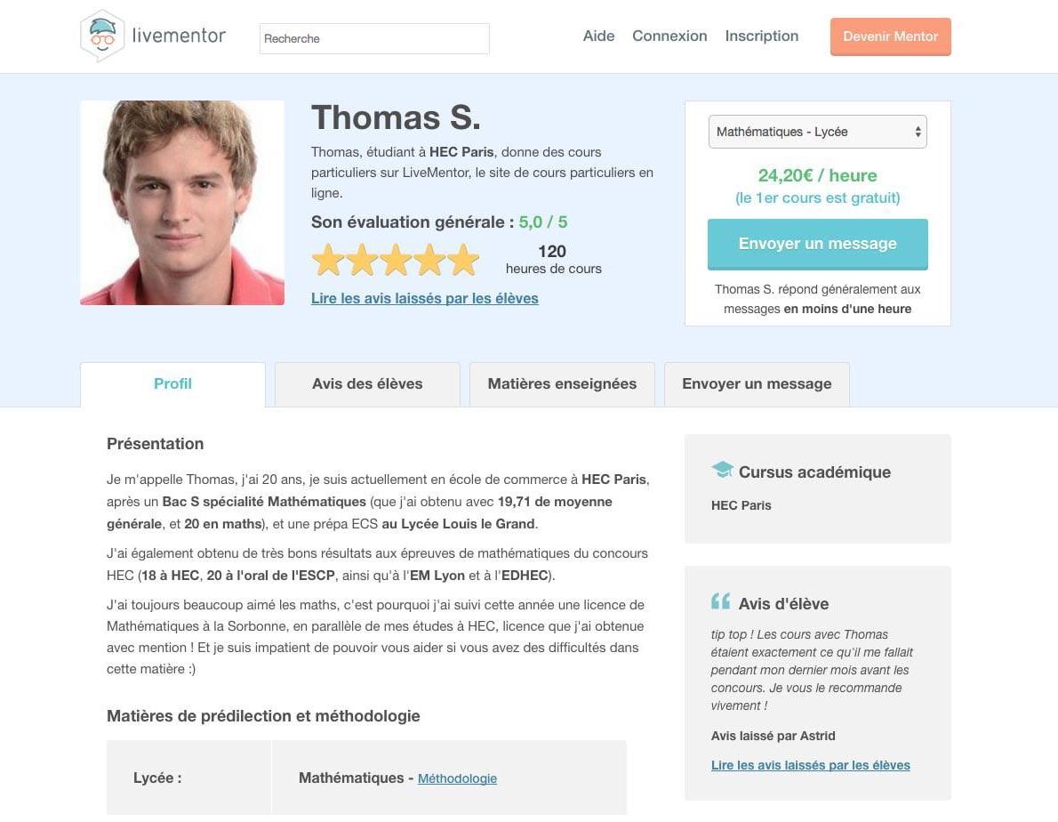 livementor-mentor-maths Livementor, la plateforme de cours particuliers en ligne par des étudiants pour des étudiants