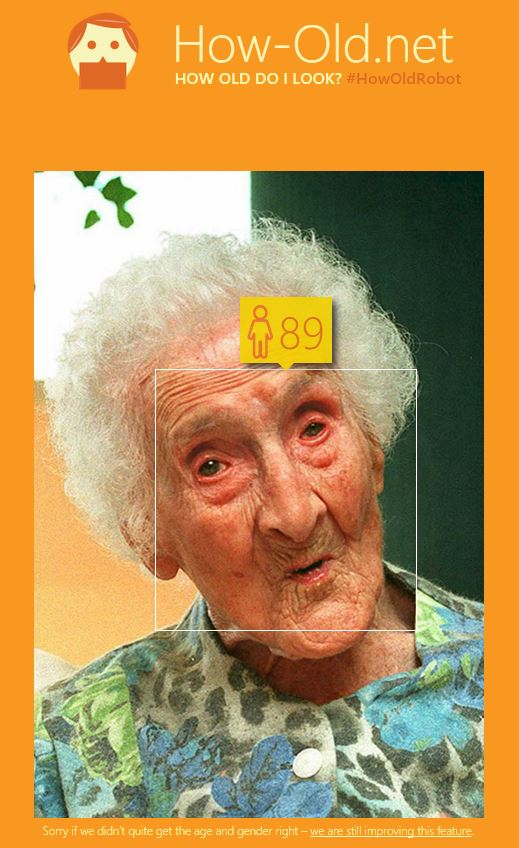 how-old-net-jeanne-calment How-Old de Microsoft estime votre âge à partir d'une photo
