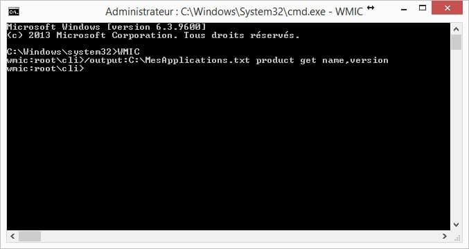 cmd-code-taper Récupérer la liste des applications installées sur son ordinateur
