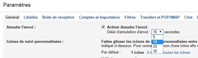 gmail-annuler-envoi-parametres Les utilisateurs de Gmail peuvent maintenant annuler l'envoie d'un mail