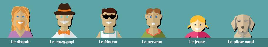 6-profiles-conducteurs Infographie : le top 6 des pires profils de conducteurs !