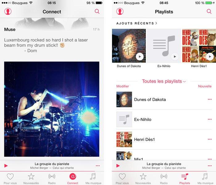 remplacer-connect-playlists iOS 8.4 et suivants : retrouver ses playlists dans l'application Musique et autres astuces !