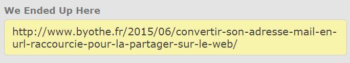 unfurl-result Trouver l'adresse web qui se trouver derrière une URL raccourcie