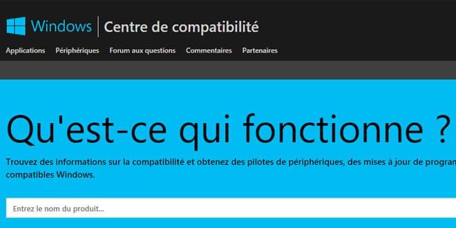 centre-de-compatibilité-microsoft