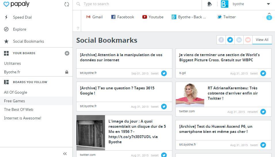 papaly-social-bookmarks Papaly, un outil pour gérer tous vos favoris en ligne !