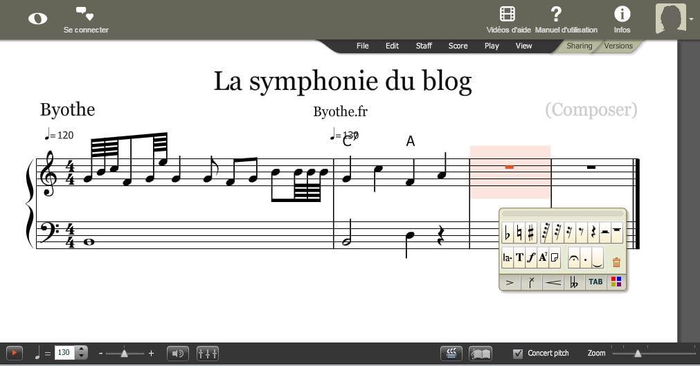 noteflight-composition Avec NoteFlight, créez vos partitions de musique en ligne