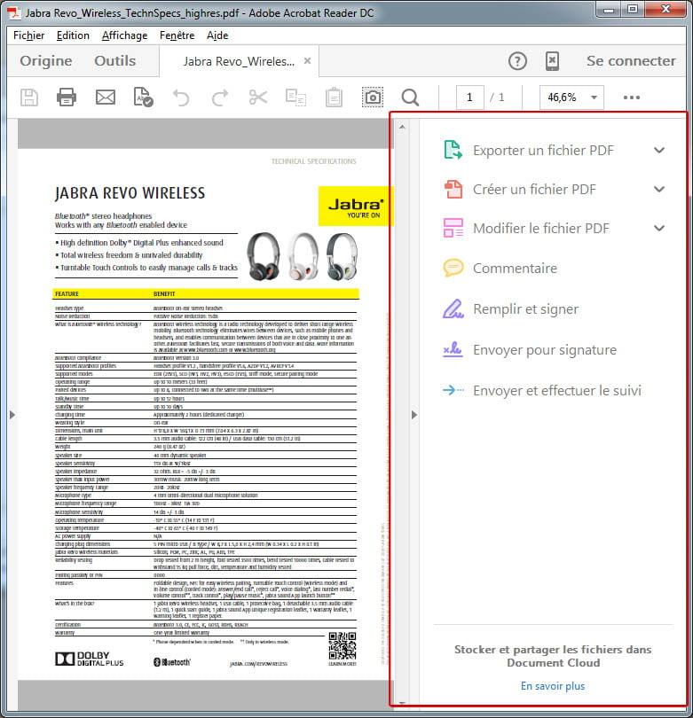 barre-laterale-adobe-dc Supprimer la barre latérale droite dans Adobe Reader DC