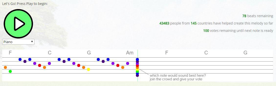 crowdsound Voici ce qui se passe quand 45 000 personnes composent une musique ensemble sur le net
