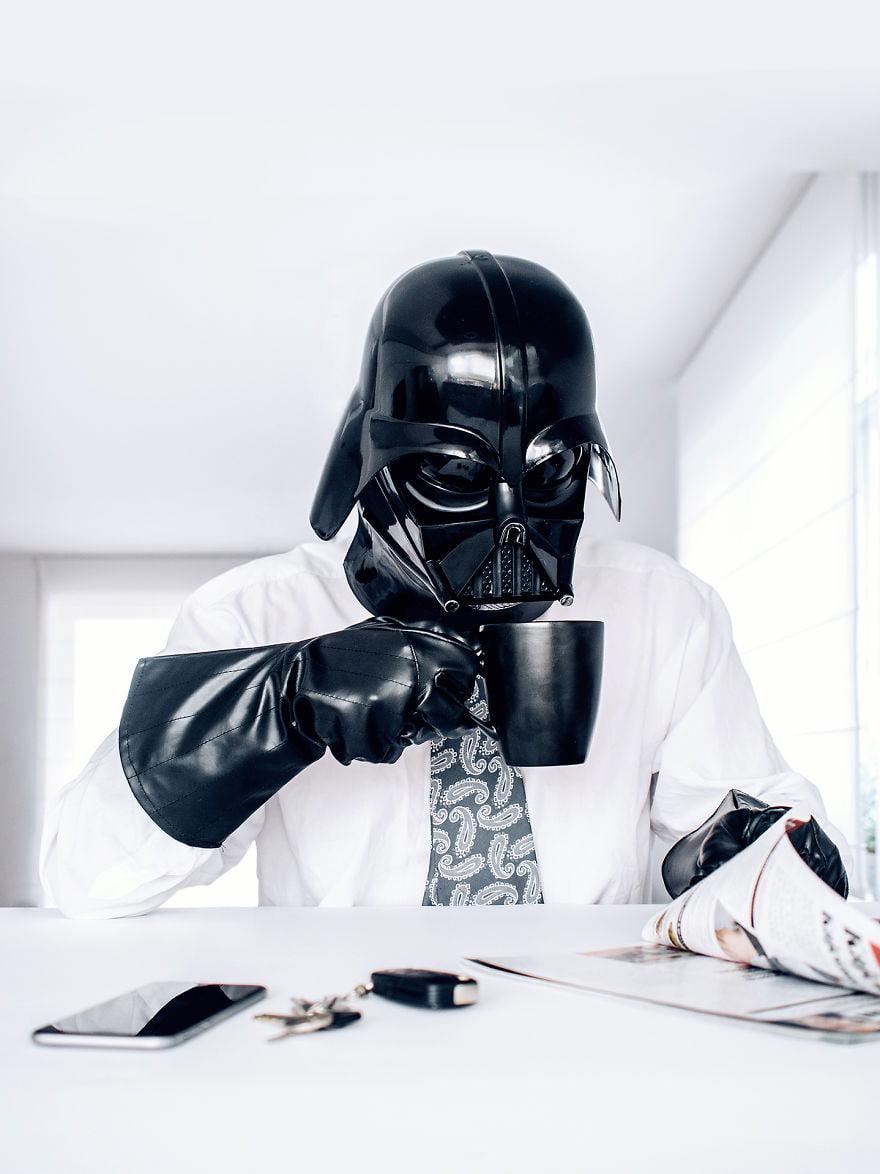dark-vador-café Photo : et si Dark Vador était un homme comme les autres ?