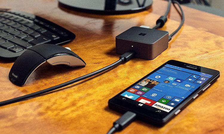 display-dock Continuum : utilisez votre smartphone sous Windows 10 comme un PC