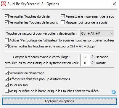 keyfreez-options Désactivez facilement votre souris et votre clavier avec BlueLife KeyFreeze