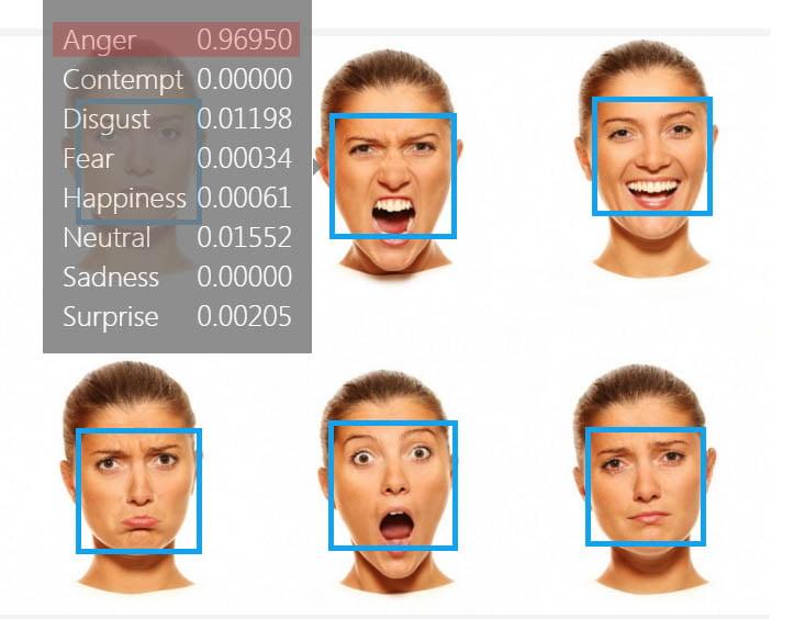 microsoft-emotion-recognition1 Microsoft propose de détecter les émotions sur les visages d'une photo