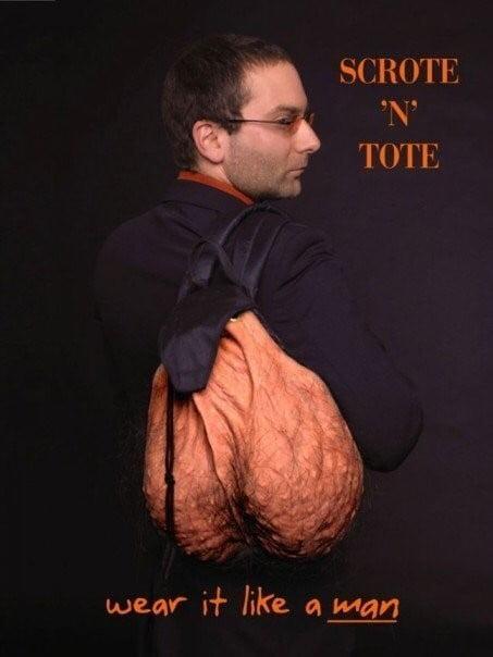 scrote-n-tote3 L'image du jour : Scrote'n'tote, le sac à dos testicules !