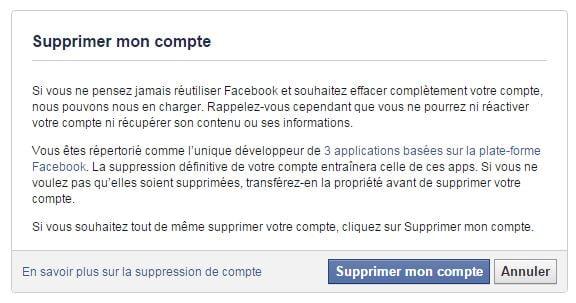 facebook-supprimer-compte Supprimer son compte sur les principaux réseaux sociaux