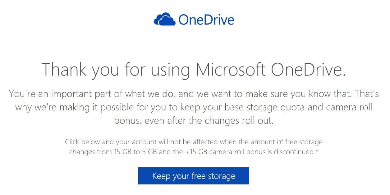 onedrive-15go Comment conserver vos 15 Go de stockage gratuit sur OneDrive ?