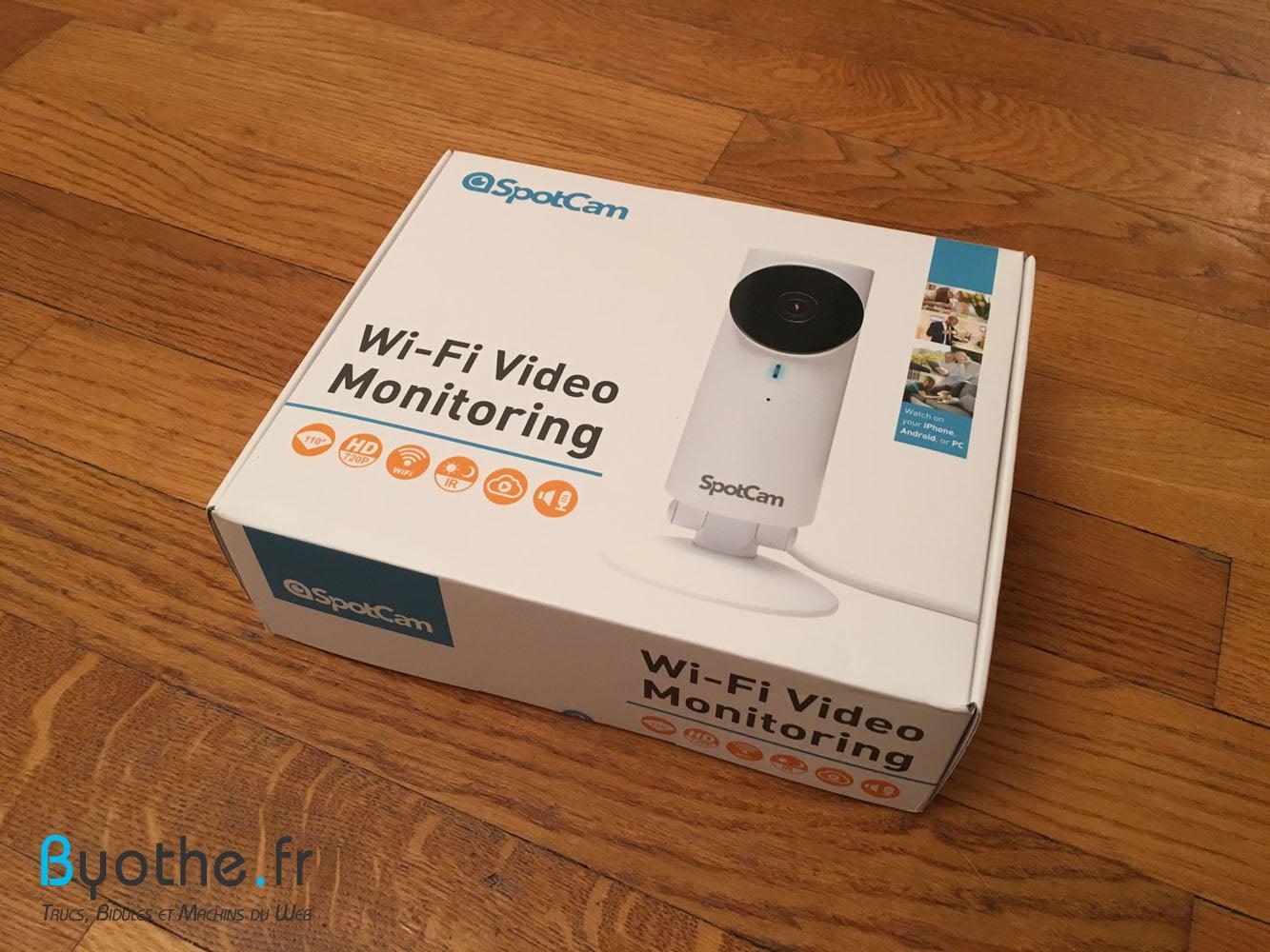 spotcam-boite Test de la caméra de surveillance WiFi SpotCam HD