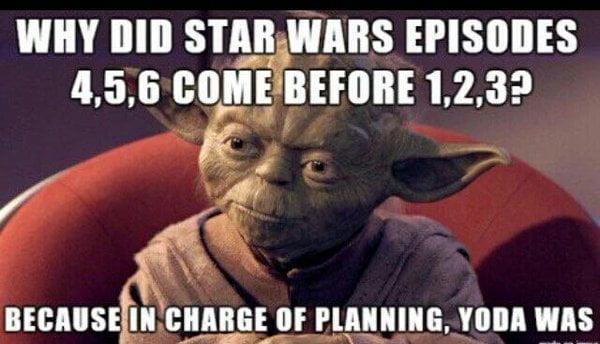 yoda-ordres-episodes L'image du jour : le mystère de l'ordre des épisodes de Star Wars enfin élucidé !