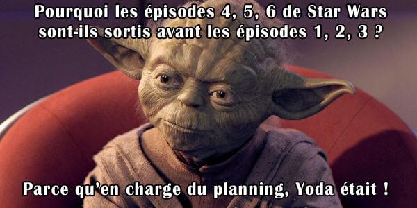 yoda-planning-episode L'image du jour : le mystère de l'ordre des épisodes de Star Wars enfin élucidé !