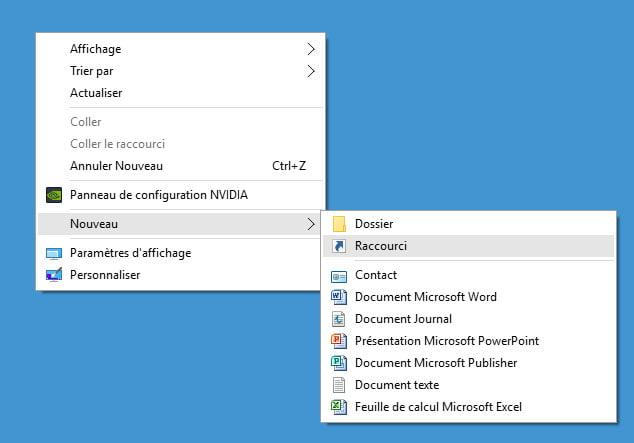 Cr ez un raccourci pour mettre en veille votre ordinateur - Mettre un raccourci internet sur le bureau ...
