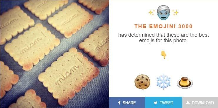 emojini-biscuits-e1454238963797 The Emojini : un algorithme qui trouve les emojis représentant le mieux vos photos