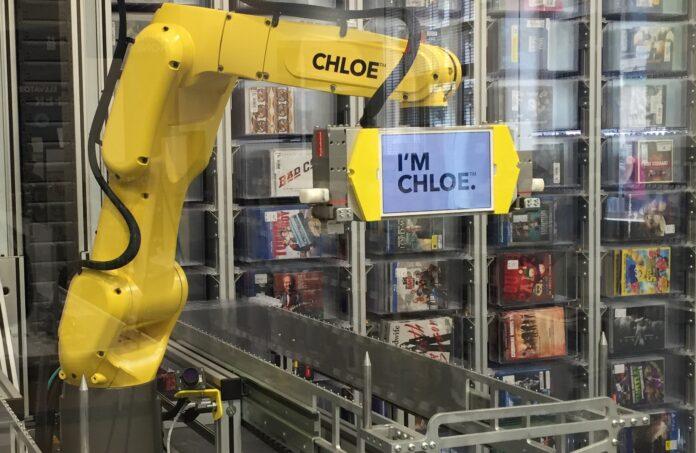A New York un bras robotique vend des CD et des DVD 24h sur 24