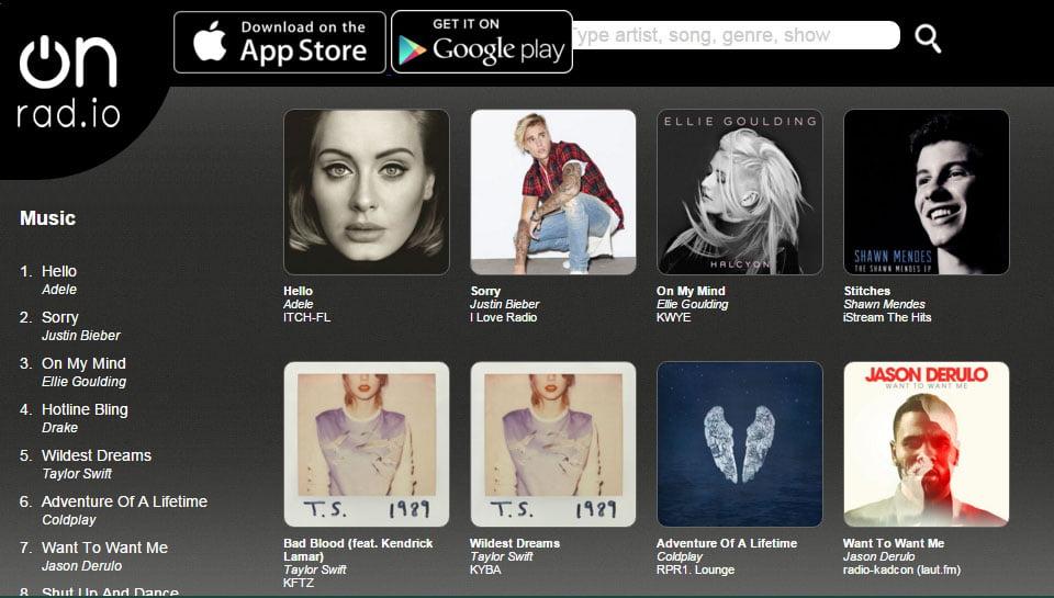 onradio-1 OnRad.io : trouver les chansons qui passent sur les web radios