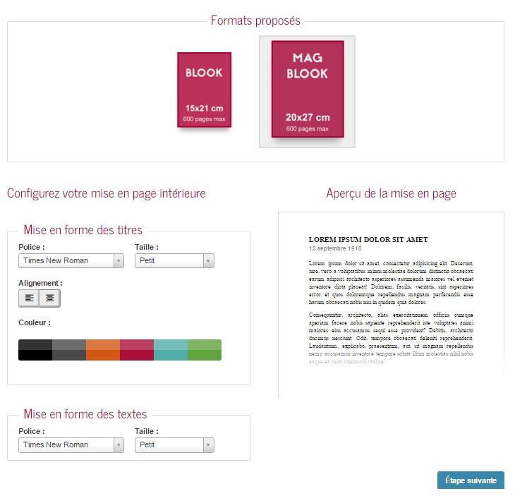 blookup-etape2-mise-en-page Blookup : faire un vrai livre avec son blog !