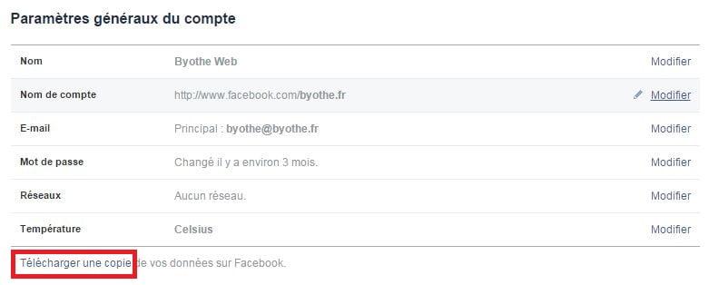 facebook-parametres2 Comment télécharger toutes vos données Facebook