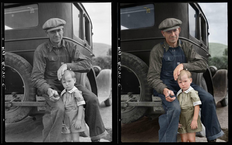 father-and-son ColorizedHistory : l'histoire sous un autre jour avec des photos colorisées
