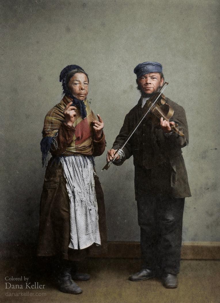 musiciens-de-rue-1 ColorizedHistory : l'histoire sous un autre jour avec des photos colorisées